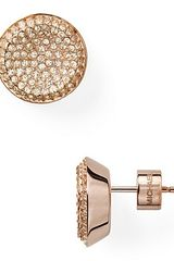 Michael Kors Concave Pave Stud Earrings - Lyst