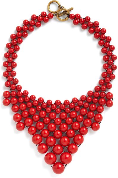 Modcloth Bead My Baby Necklace in Multicolor (red) - Lyst