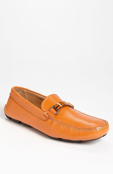 Prada Driving Shoe in Orange for Men - Lyst