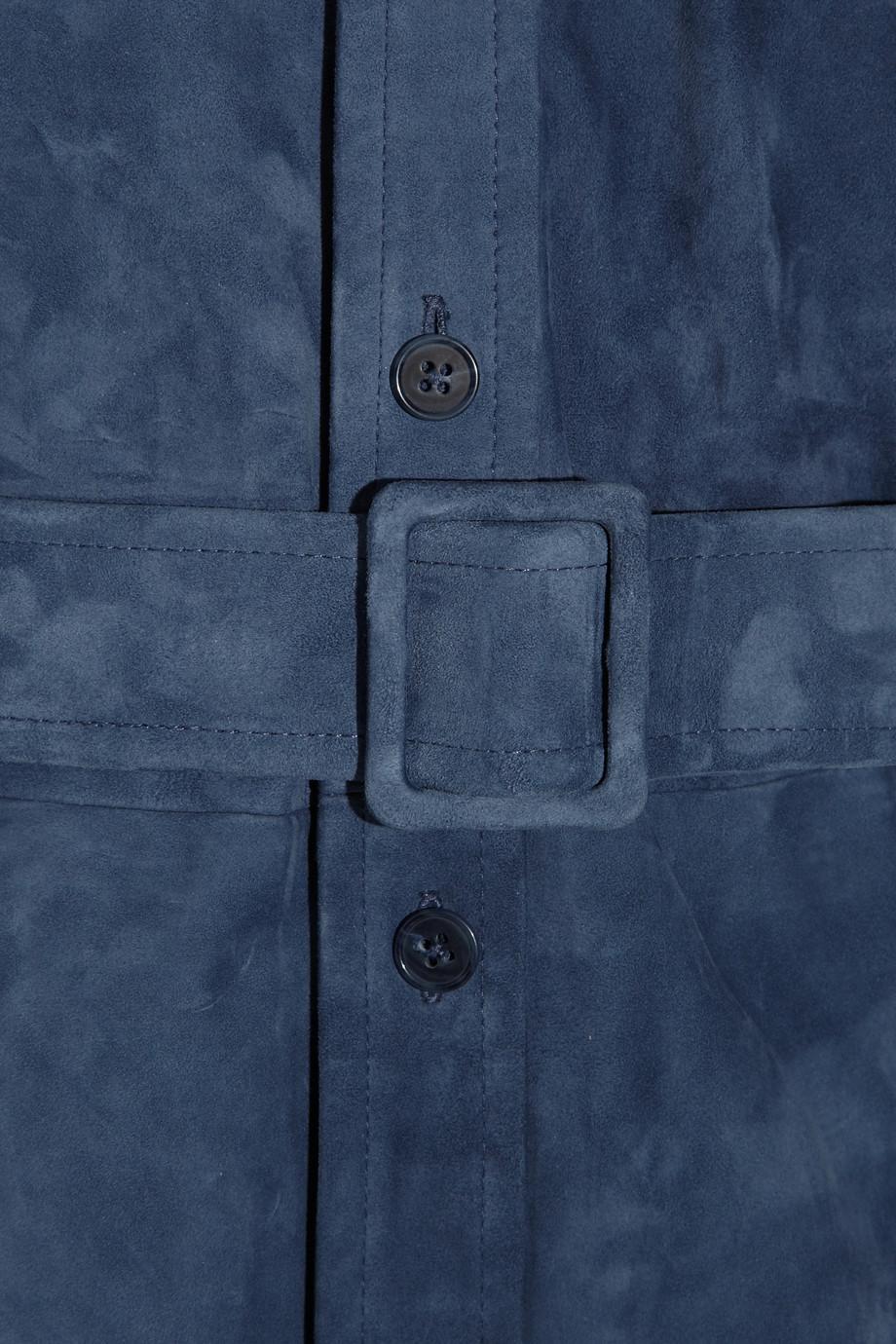 Lyst Ralph Lauren Black Label Shelbie Suede Shirt Dress