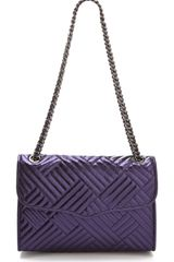 Rebecca Minkoff Metallic Quilted Affair Bag - Lyst