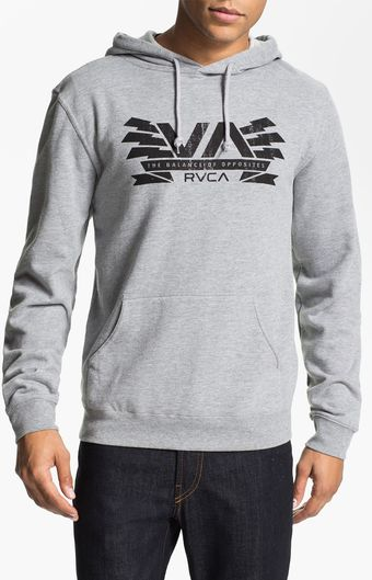 RVCA Hooded Sweatshirt - Lyst