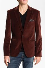 Scotch & Soda Trim Fit Velvet Blazer - Lyst