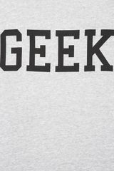 Topshop Geek Sweatshirt in Gray (light grey) - Lyst