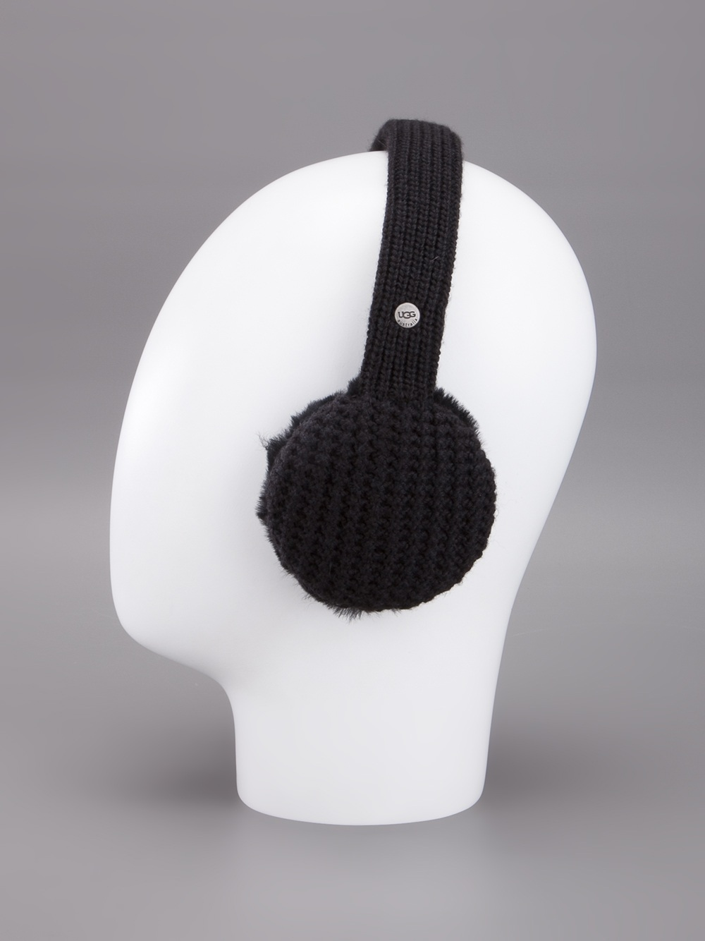 Ugg Knit Earmuffs In Black Lyst