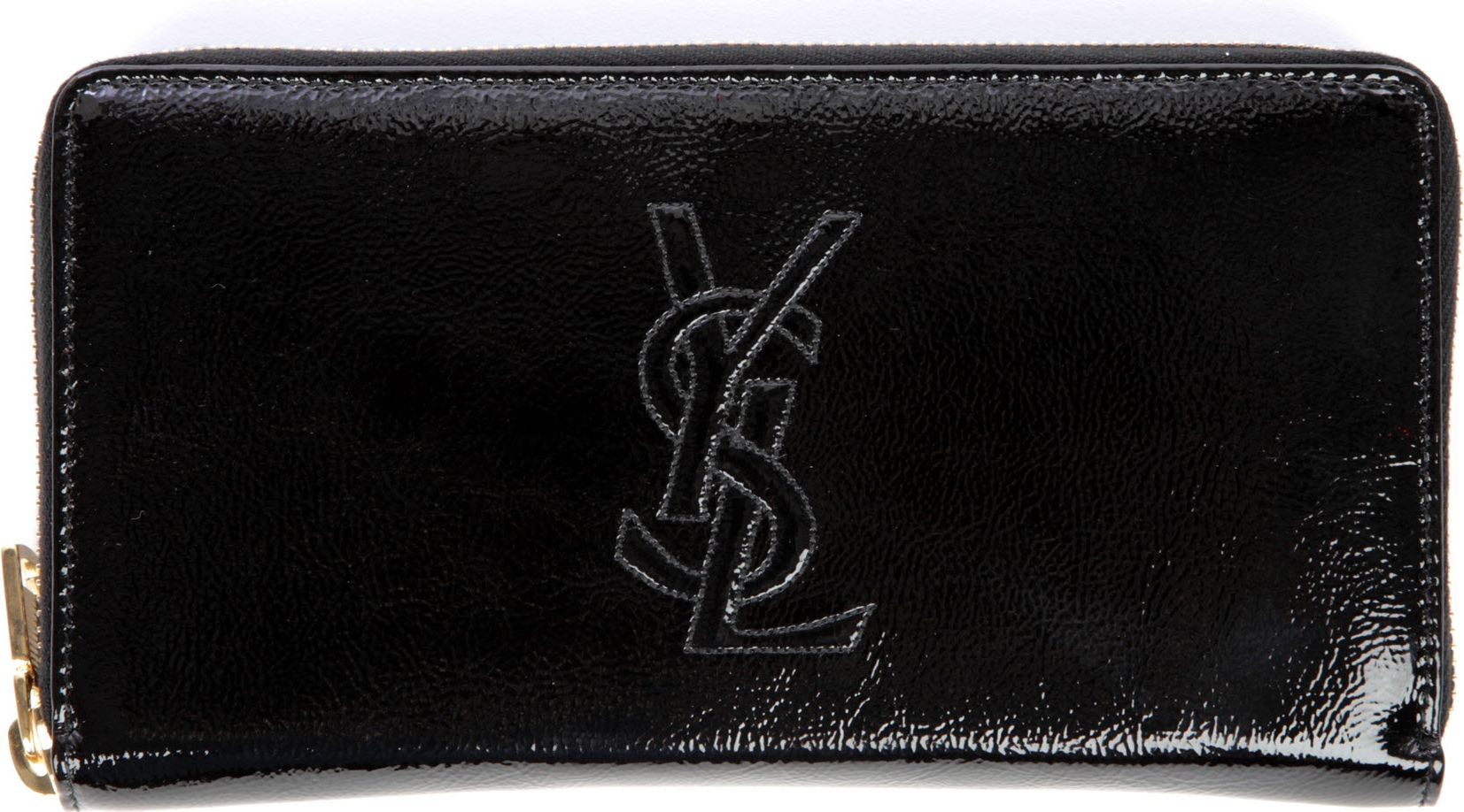 huge leather handbags - Saint laurent Belle De Jour Zip Around Wallet in Black | Lyst