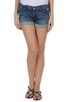 7 For All Mankind Denim Shorts - Lyst