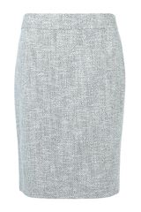 Armani Fitted Bouclé Pencil Skirt - Lyst