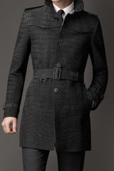 Burberry Midlength Alligator Leather Trench Coat - Lyst