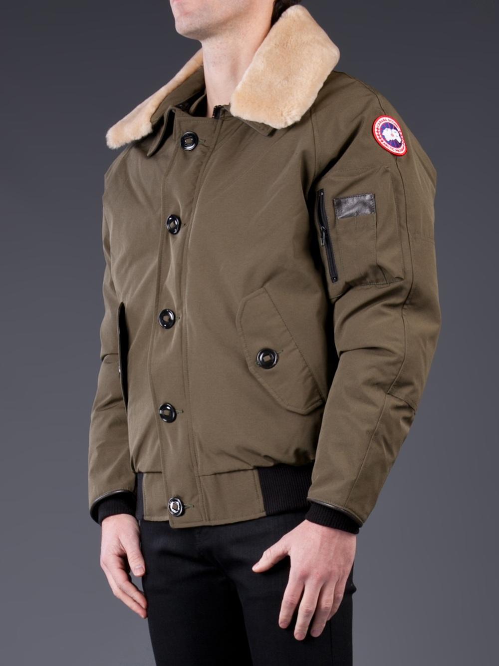 canada goose bomber jacket green