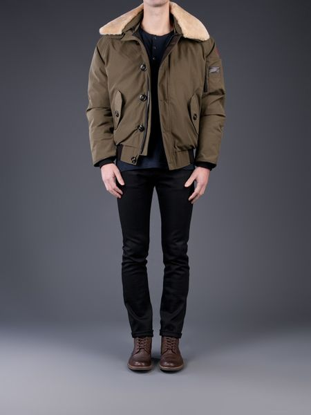 canada goose brown foxe bomber jacket