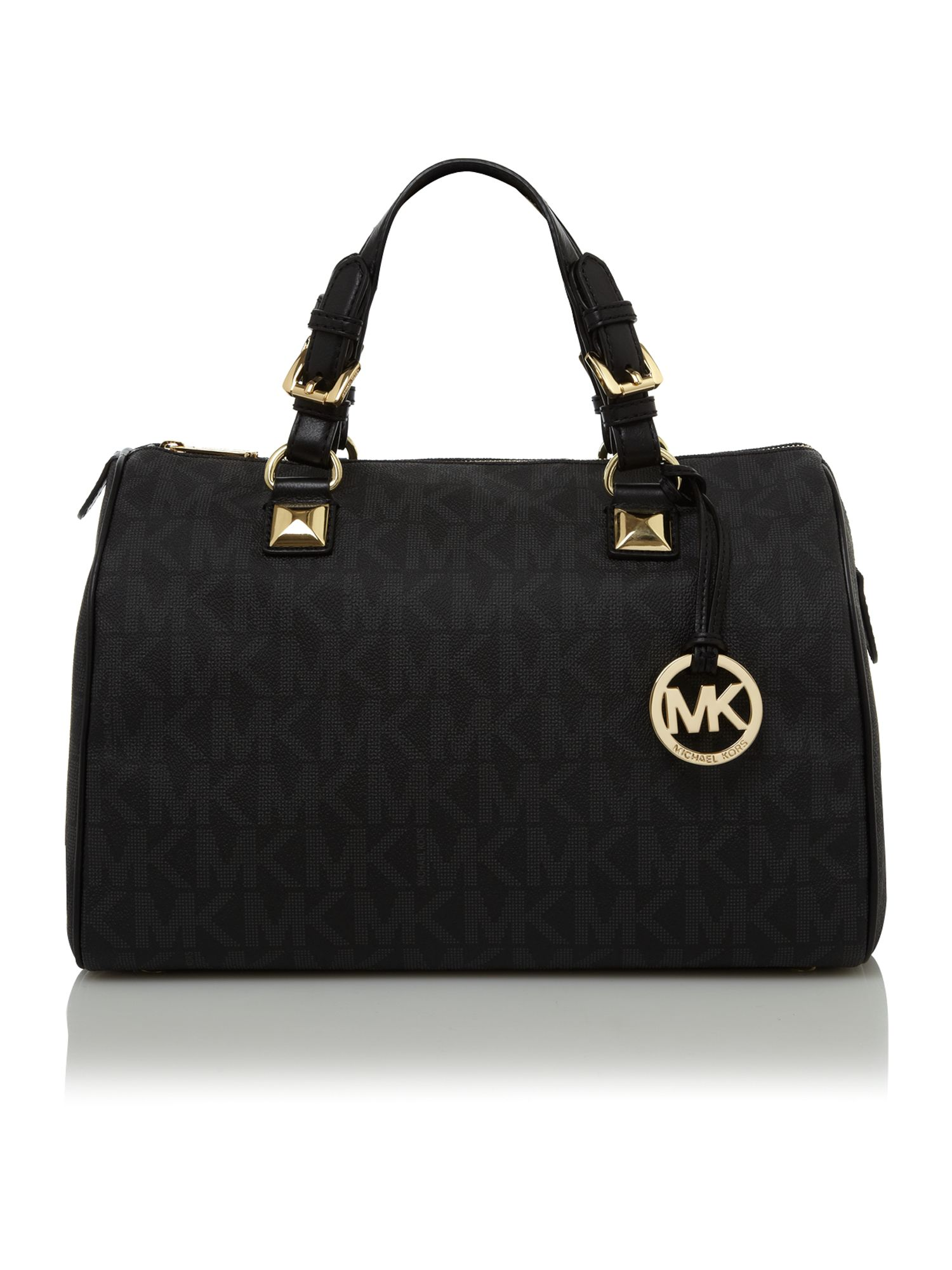 Michael Kors Logo Bowling Bag In Black Lyst