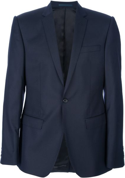 Mr Start Textured Wool Suit in Blue for Men (navy)