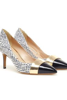 Nicholas Kirkwood Python and Patent Leather Pumps - Lyst