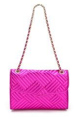 Rebecca Minkoff Metallic Quilted Affair Bag in Purple (magenta) - Lyst