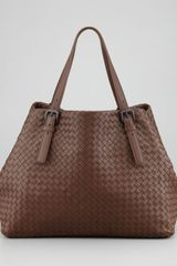 Bottega Veneta Woven Leather Large Tote Bag Brown - Lyst