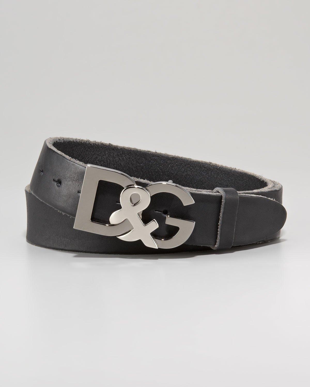 26d9cd5928 ... order lyst dolce gabbana dg metal logo belt in black for men 49421 ec1dd