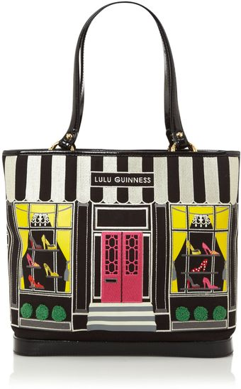 Lulu Guinness Shop Front Tote Bag - Lyst