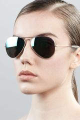 Ray-Ban Aviator Sunglasses with Flash Lenses  - Lyst