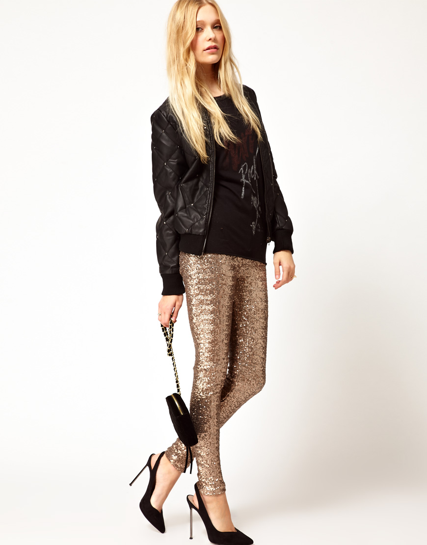 River Island Sequin Trousers