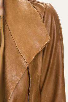 Vince Leather Scuba Jacket - Lyst