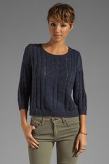 Autumn Cashmere Sheer Cable Pullover - Lyst