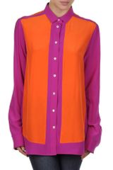 Celine Long Sleeve Shirt in Purple (orange) - Lyst