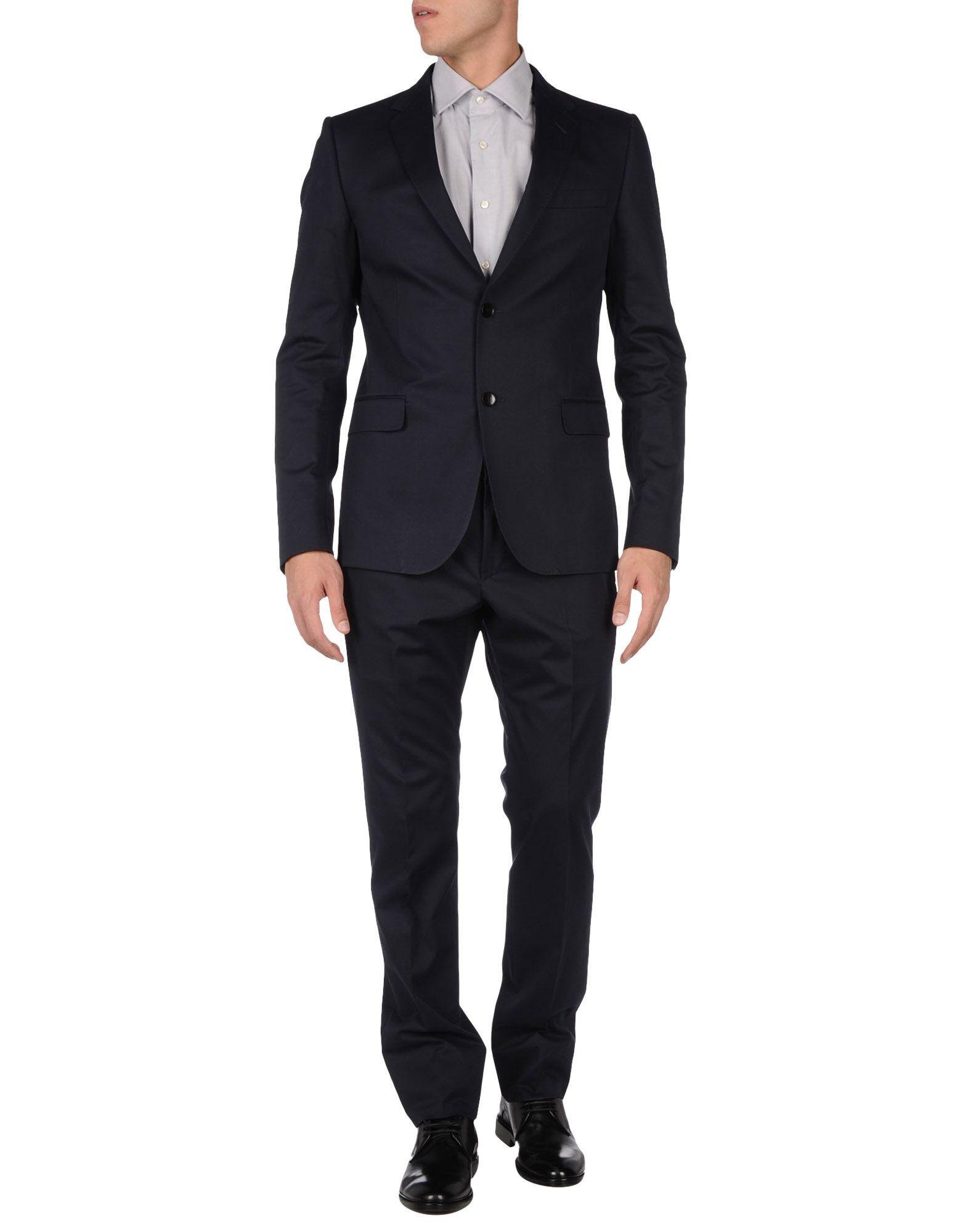 Gucci suit in blue for men lyst Designer clothing for men online sales
