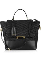 Diane Von Furstenberg Woven Raffia and Leather Tote - Lyst