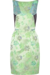 Matthew Williamson Paneled Floral Brocade Dress - Lyst