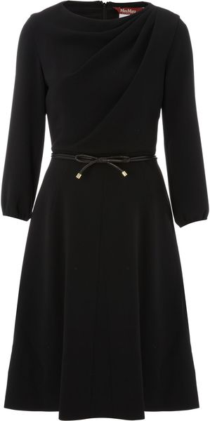 Max Mara Studio Garden Belted 34 Sleeve Dress - Lyst
