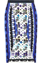 Peter Pilotto H Printed Stretchcrepe Skirt - Lyst