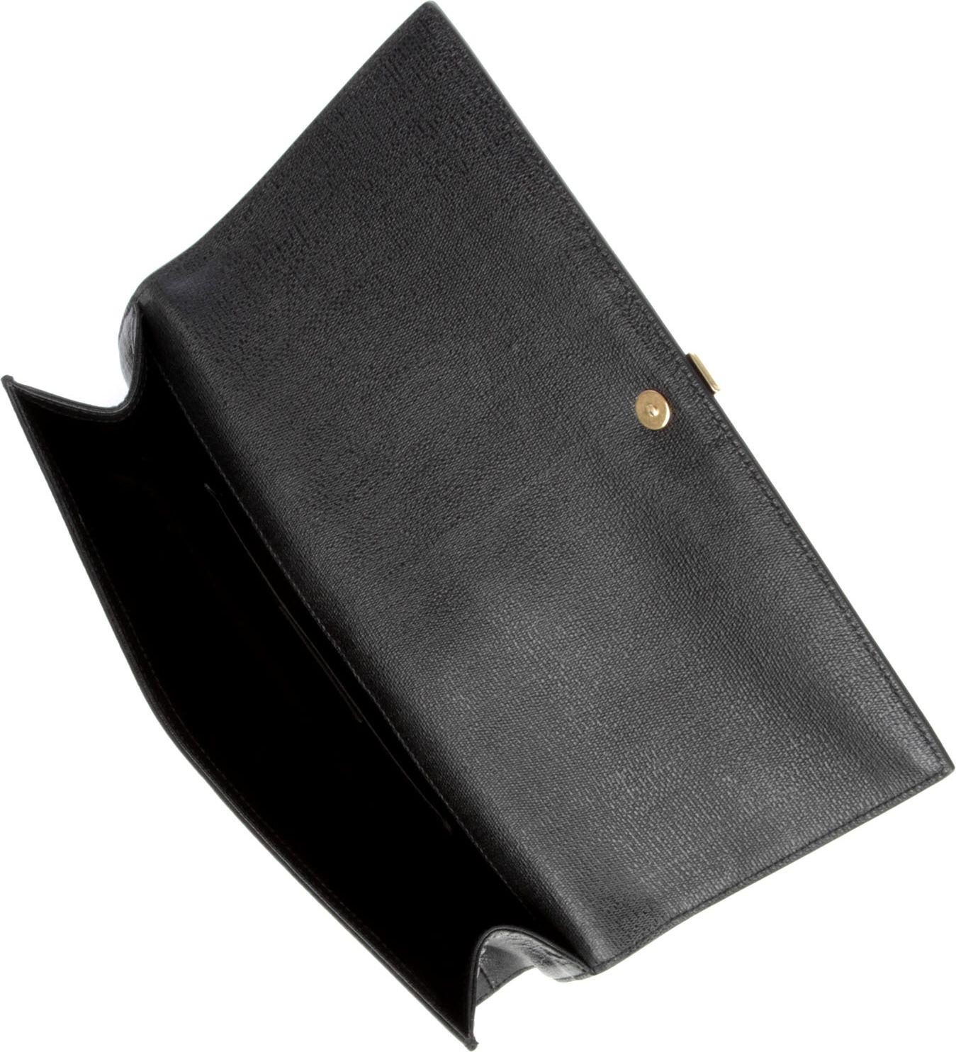 Saint laurent Chyc Mini Tweed Clutch in Black (noir) | Lyst