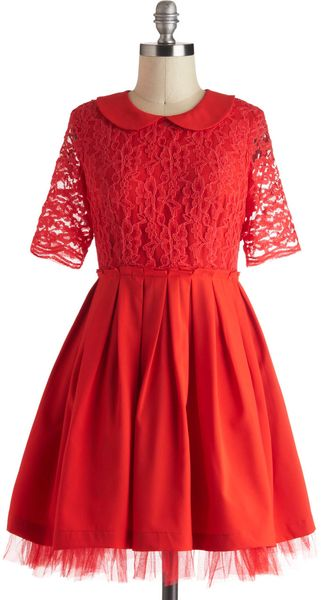ModCloth Name It and Win It Good Tidings Titles Day 5 Dress - Lyst