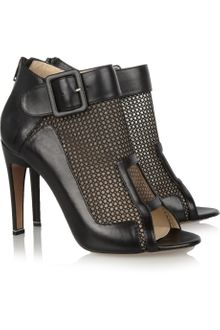 Nicholas Kirkwood Meshpaneled Leather Ankle Boots - Lyst