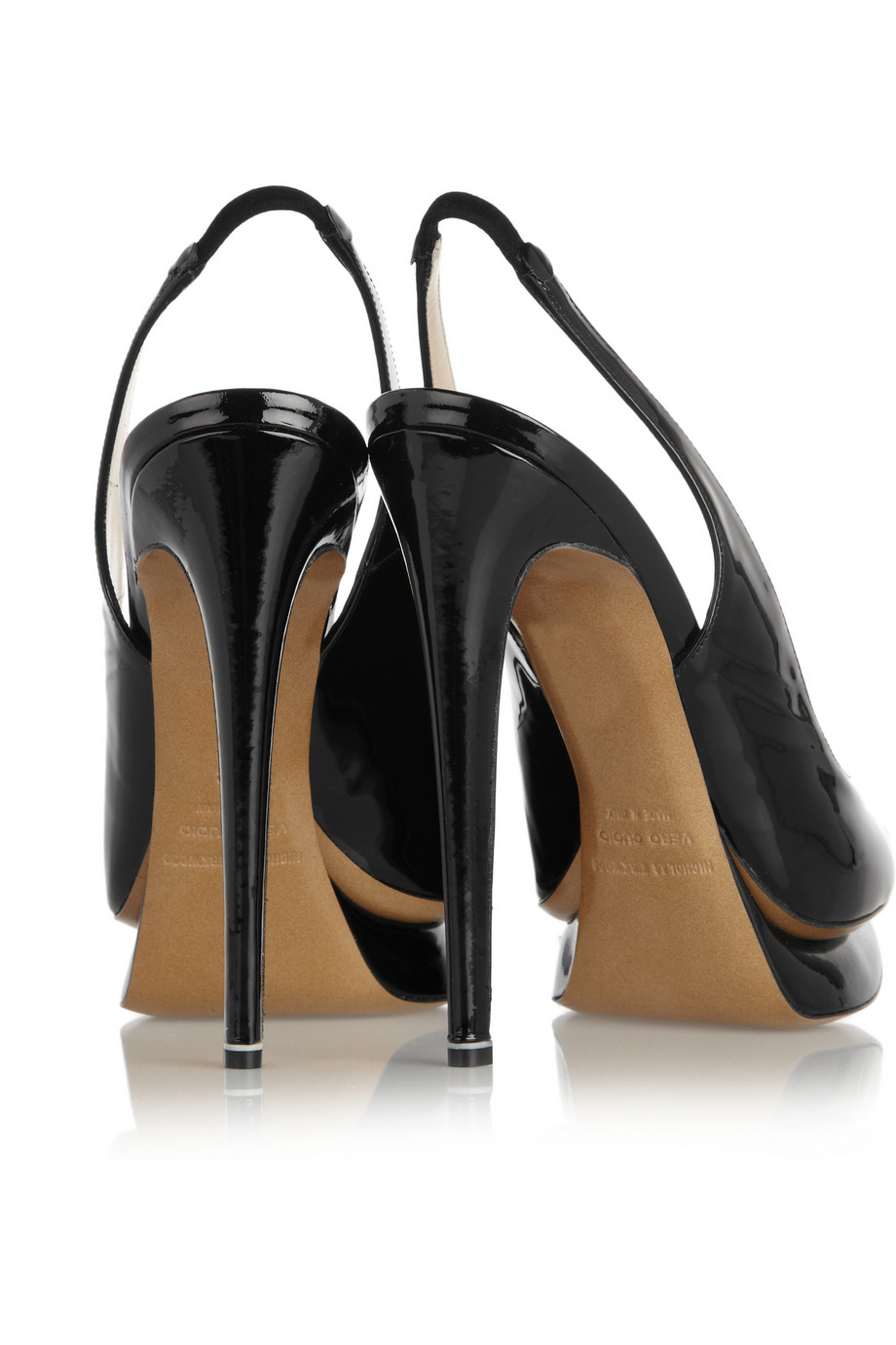 Lyst Nicholas Kirkwood Patent Leather Slingback Pumps In