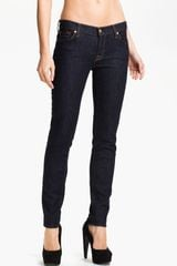 7 For All Mankind The Slim Cigarette Stretch Jeans Rinse - Lyst