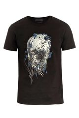 Alexander McQueen Skull and Palm Print T-Shirt - Lyst