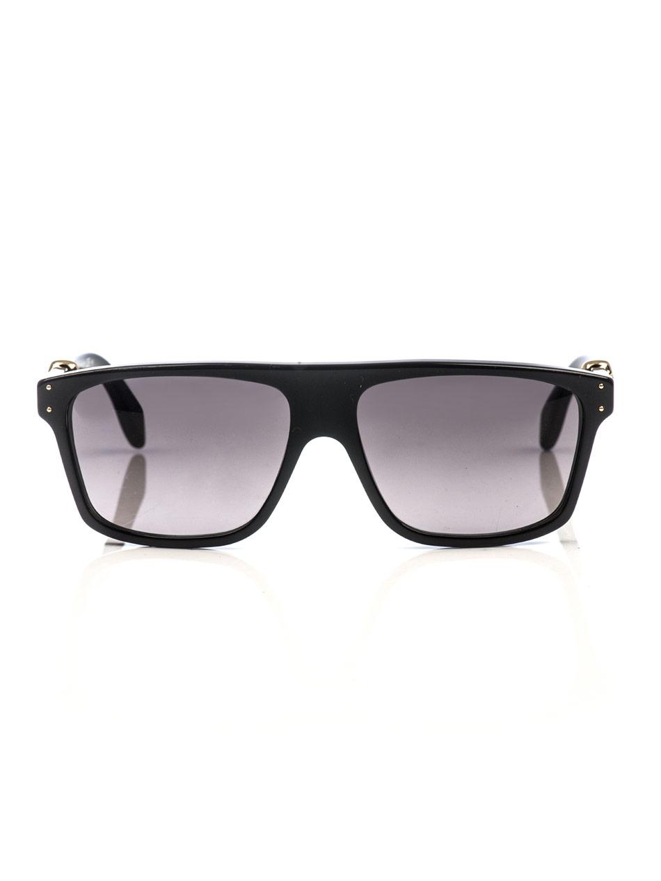 ece0e185129 Lyst - Alexander McQueen Gold Skull Matte Sunglasses in Metallic for Men