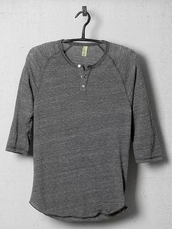 Alternative Midlength Sleeve Raglan Henley - Lyst