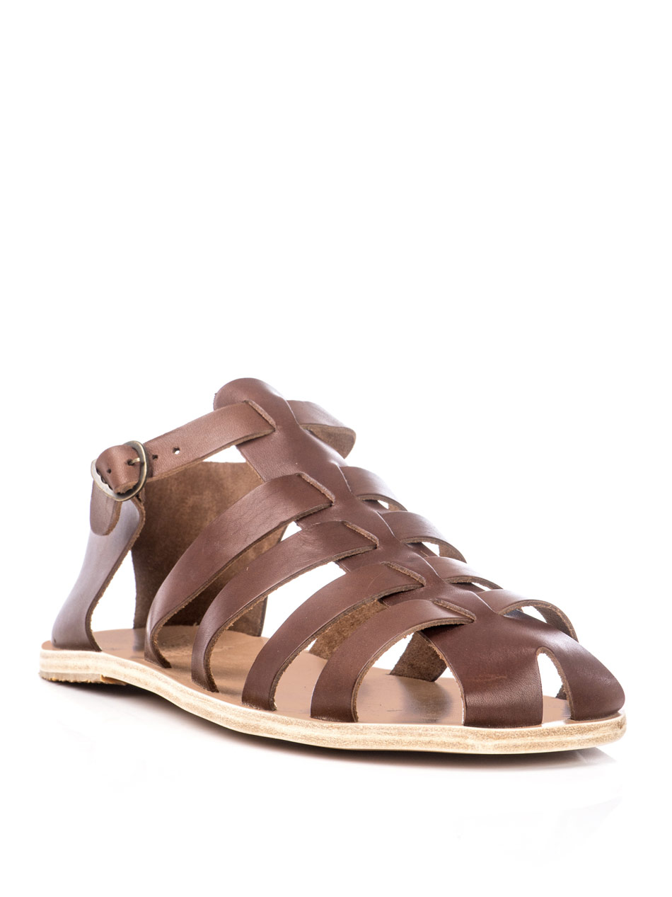 Ancient greek sandals Homer Sandals in Brown for Men | Lyst