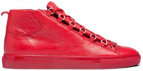 Balenciaga Arena High Sneakers Maree in Red for Men (pavot) - Lyst