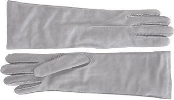 Barneys New York Whipstitch Suede Gloves - Lyst