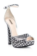 Bottega Veneta Silver Sequin Shoes in Silver - Lyst