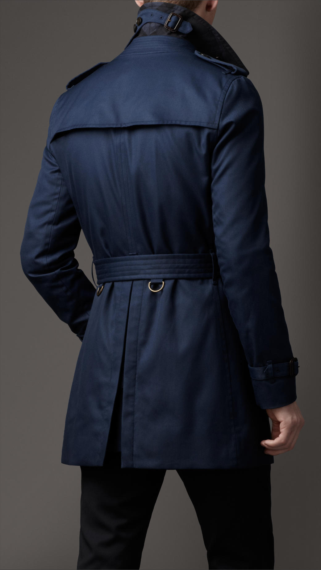 lyst burberry midlength technical cotton trench coat in. Black Bedroom Furniture Sets. Home Design Ideas