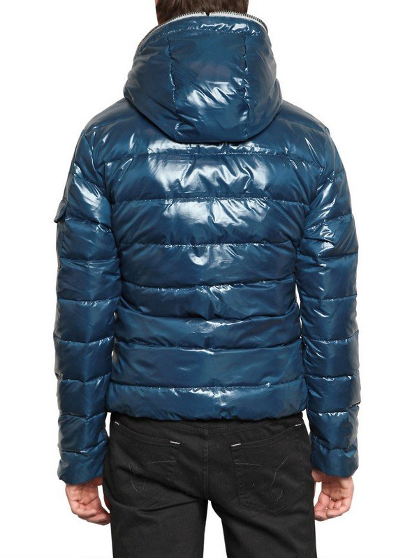 Lyst Calvin Klein Jeans Shiny Down Jacket In Blue For Men