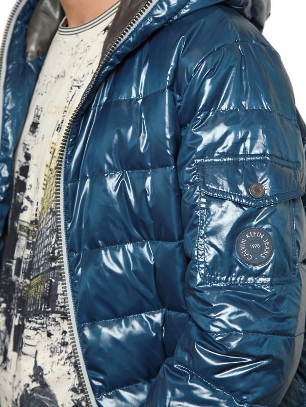 Lyst Calvin Klein Jeans Shiny Down Jacket In Blue For Men