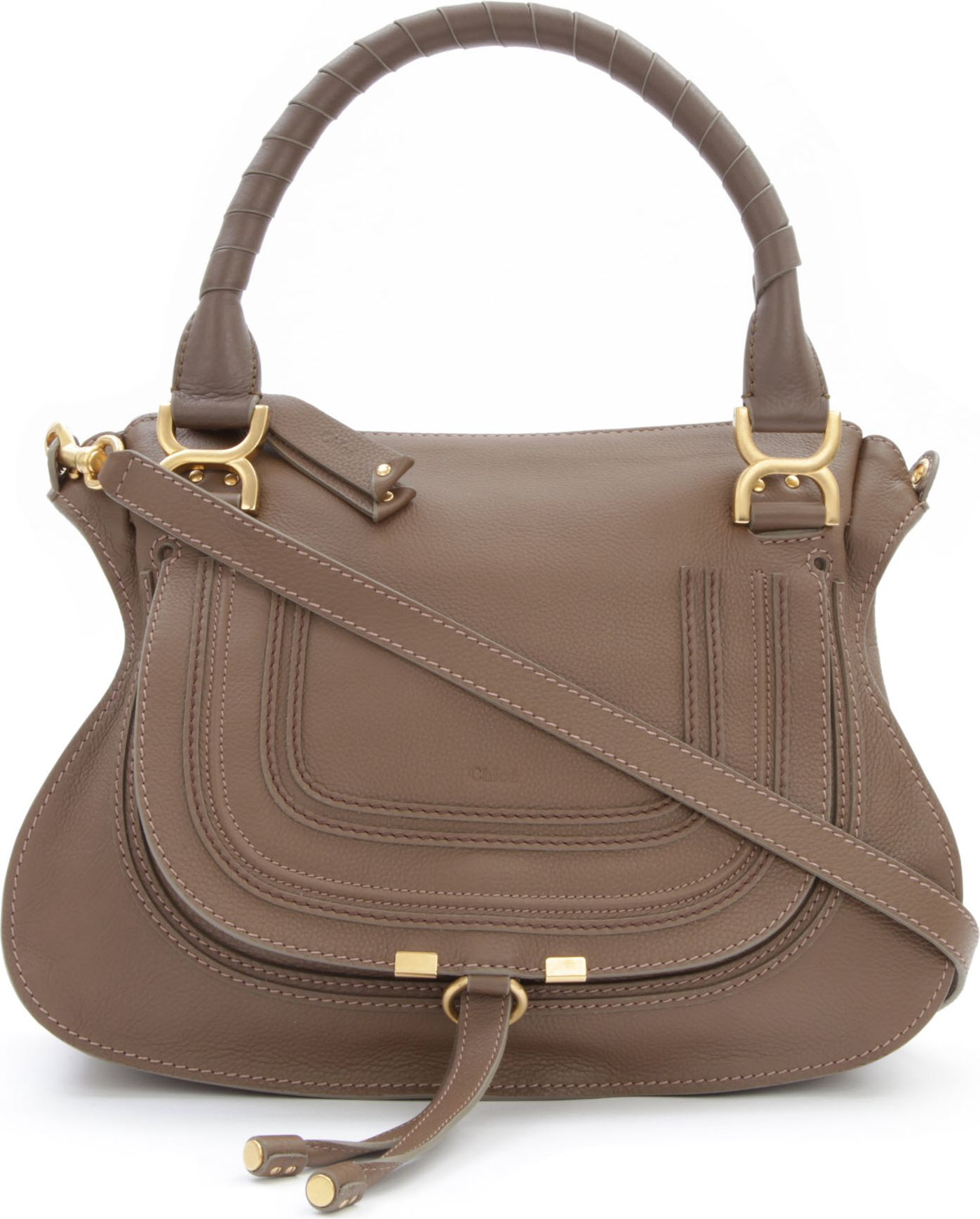Chloé Marcie Medium Shoulder Bag in Brown | Lyst