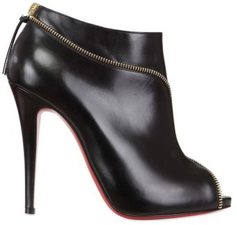 Christian Louboutin 120mm Col Zipped Calf Open Toe Low Boots - Lyst