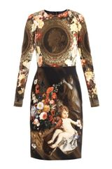 Dolce & Gabbana Cherub and Coin Print Dress - Lyst